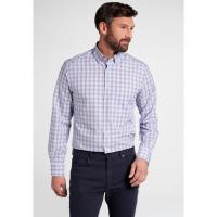Image of LONG SLEEVE SHIRT POPLIN PURPLE CHECK by ETERNA