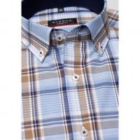 Image of SHORT SLEEVE SHIRT POPLIN CHECKED by ETERNA