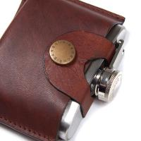Image of 5OZ HINGED HIPFLASK by BARBOUR