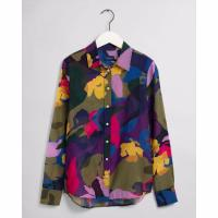 Image of Floral Cotton Silk Shirt by GANT