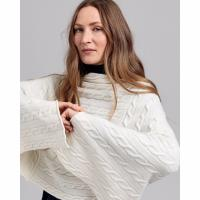 Image of Lambswool Cable Poncho by GANT
