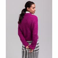 Image of Wool Mohair Pointelle Crew Neck Jumper by GANT