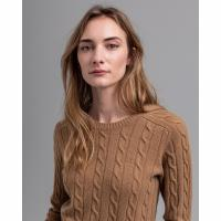 Image of Lambswool Cable Crew Neck Jumper by GANT