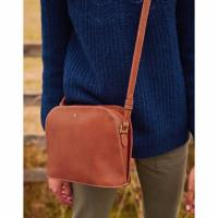 Image of LANGTON DOME LEATHER CROSS BODY BAG from JOULES