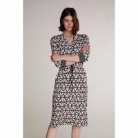 Image of SHIRT DRESS WITH GRAPHIC PATTERN from OUI
