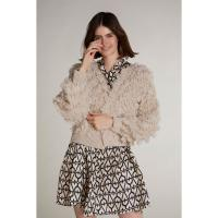 Image of KNITTED CARDIGAN IN FRINGE LOOK from OUI