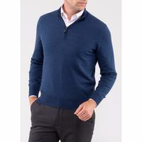 Image of Barton Wool Half Zip Mock Neck Jumper from ALAN PAINE