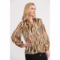 Image of Blouse in BLACK/GOLD from JOSEPH RIBKOFF