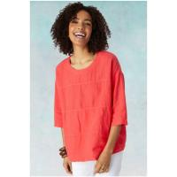 Image of Linen Panelled Top from SAHARA