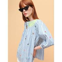 Image of PALMER SHIRT BLUE STRIPES DESIGN in BLUE STRIPE from VILAGALLO